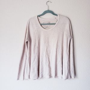 Free people We The Free Waffle Knot Oversized Top